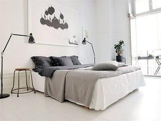 简洁陈设宜家一居室欣赏卧室