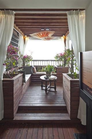 东南亚风格住宅阳台过道