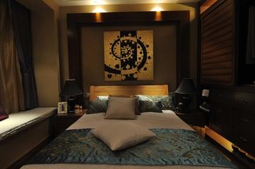 东南亚设计客房床品