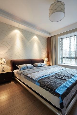 80平两室两厅简约住宅欣赏卧室效果图