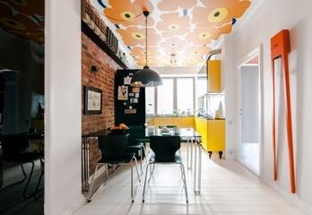 橙色活力一居室欣赏餐厅设计