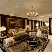 经典美式客厅吊顶装修效果图 值得推荐