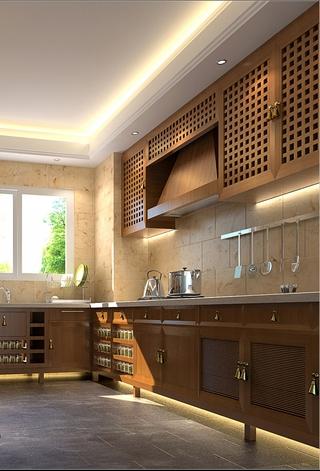 112平东南亚住宅欣赏厨房