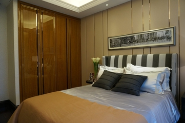 新古典低调样板间欣赏卧室衣柜