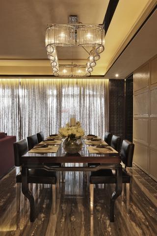 超美的餐厅灯饰效果图 温馨现代家居
