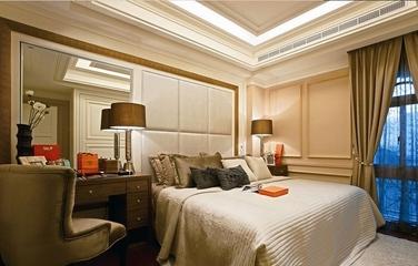 优雅新古典住宅欣赏卧室背景墙