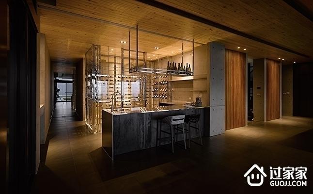 现代别墅空间效果图赏析酒柜
