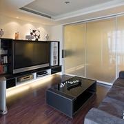 90平白色现代三居室客厅效果