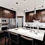 现代黑白灰别墅设计套图厨房