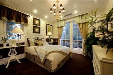 98平米三居室混搭风格卧室窗帘