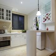 45平白色现代一居室欣赏厨房