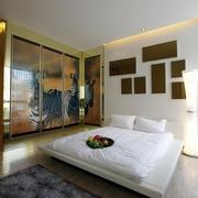 现代简约风格住宅套图卧室背景墙