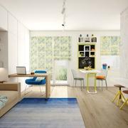 清爽30平小户型设计欣赏客厅