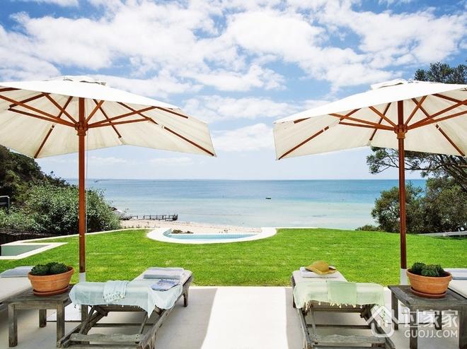 海景度假阳光别墅欣赏庭院