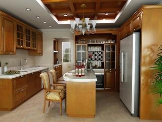 欧式奢华大宅大设计欣赏厨房陈设