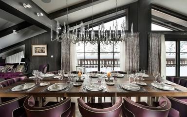 墨色现代流行别墅欣赏餐厅