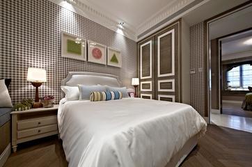 新古典样板房三居室欣赏卧室背景墙