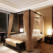 卧室罗马风格床