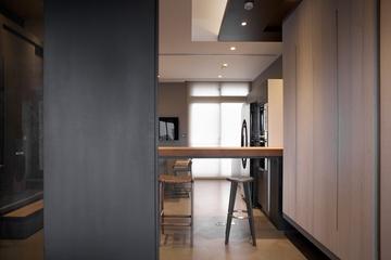 灰色现代品味住宅欣赏吧台