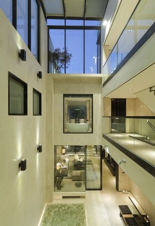 现代风格别墅效果图庭院效果