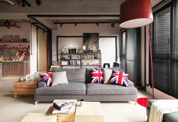 115平现代个性公寓欣赏客厅