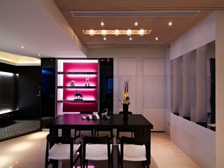 时尚摩登三居室欣赏餐厅陈设