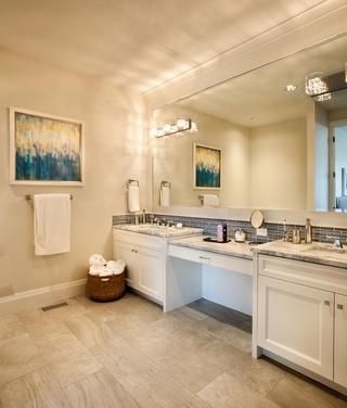 美式奢华别墅效果图欣赏洗手间设计