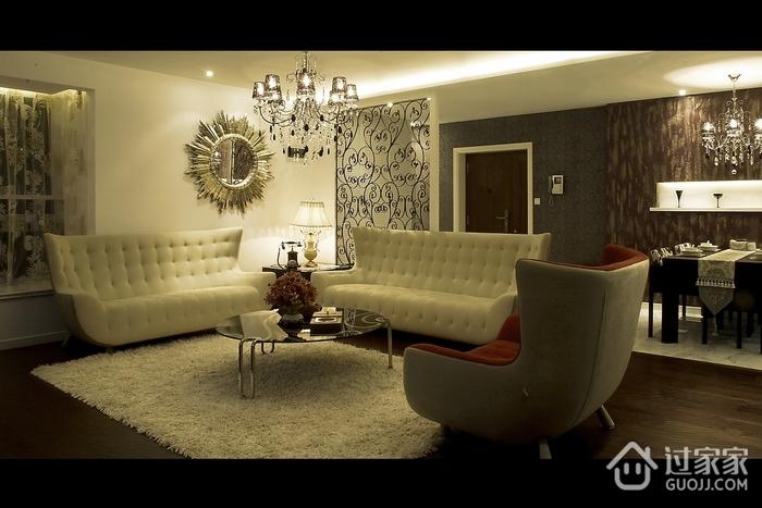 现代风格装修客厅