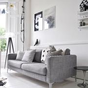 素色不失文艺的简约公寓欣赏客厅全景