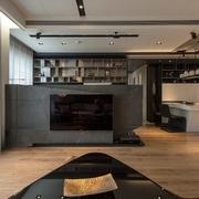 简约风格样板房设计装饰电视背景墙