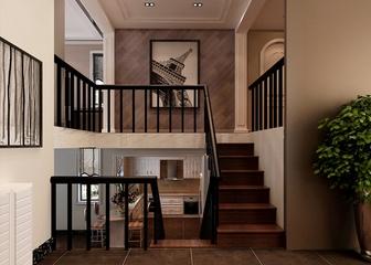新中式风格住宅案例欣赏楼梯间