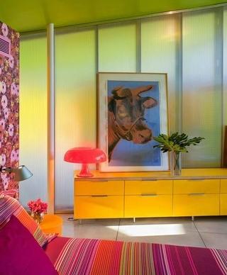 色彩丰富混搭小屋欣赏卧室局部
