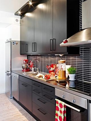 66平小资三口之家欣赏厨房陈设