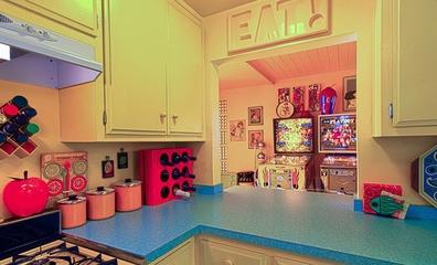 时尚彩色简约住宅欣赏厨房