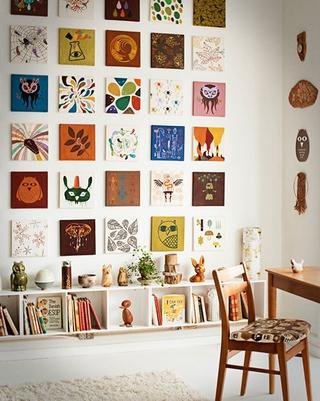 个性创意十足 清新客厅照片墙设计图