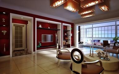110平彩色混搭复式楼欣赏客厅设计