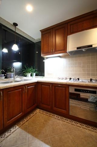 130平美式四室两厅欣赏厨房