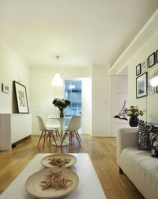 82平现代婚房两居室欣赏客厅吊顶