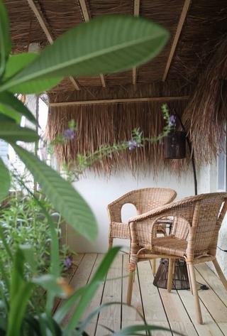 66平东南亚风格住宅阳台