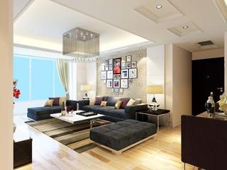 107平现代三室住宅欣赏客厅吊顶