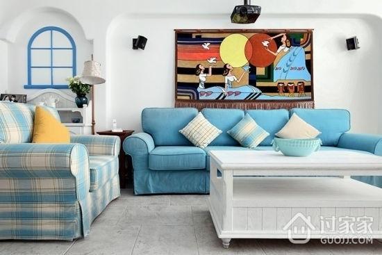 蓝白地中海两居室欣赏