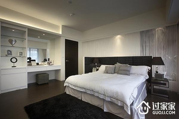 现代黑白相间效果图卧室