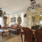 客厅灯饰装修效果图 现代中式混搭风