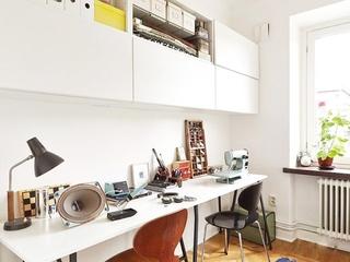 64平宜家风格效果图欣赏书房设计