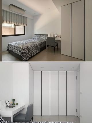 69平现代老房改造欣赏卧室局部