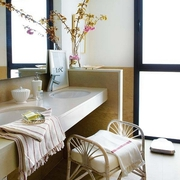 卫生间洗手台装修效果图 清新混搭家居