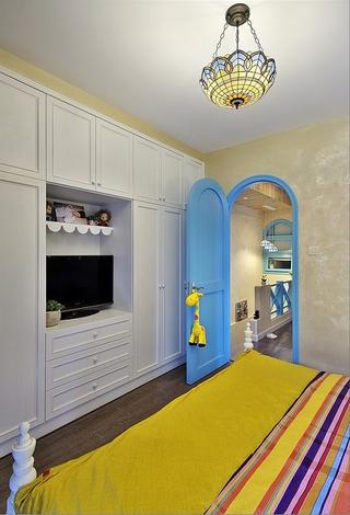 77平蓝色地中海住宅欣赏卧室陈设
