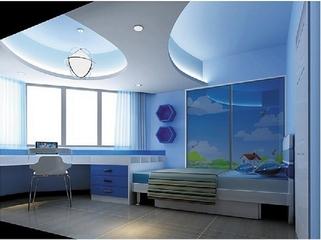 105平简约三居效果图欣赏卧室效果