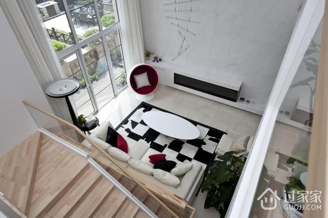 248平白色现代别墅欣赏楼梯间