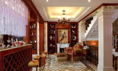 古典欧式别墅欣赏客厅陈设